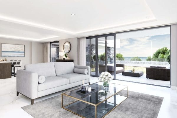 Modern Interior Of A Sandgate Pavilion Apartment Overlooking The Sea