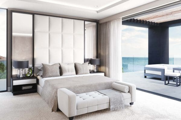Luxury Bedroom And A Large Balcony With Sea View