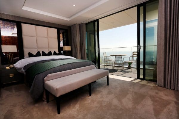 Sandgate Pavilions - Master Bedroom and Balcony