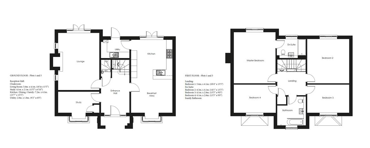 Shapley Grange Plots 1, 3 Floor Plans