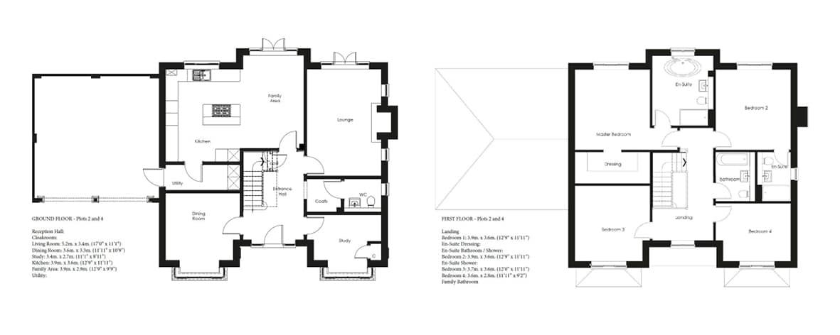 Shapley Grange Plots 2, 4 Floor Plans