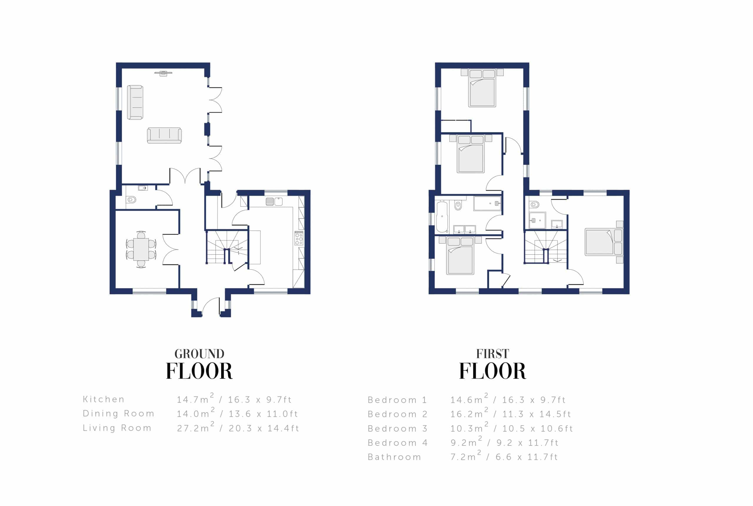 Sunningdale Millers Floor Plan and Sizing for WEB10