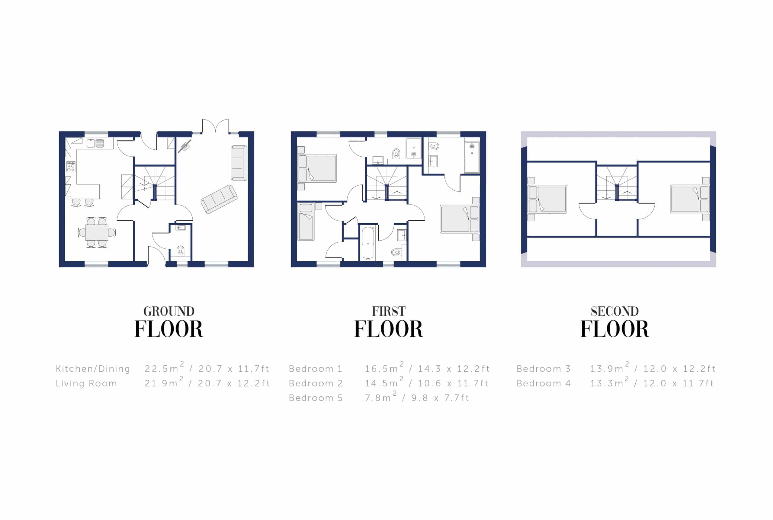 Sunningdale Millers Floor Plan and Sizing for WEB11