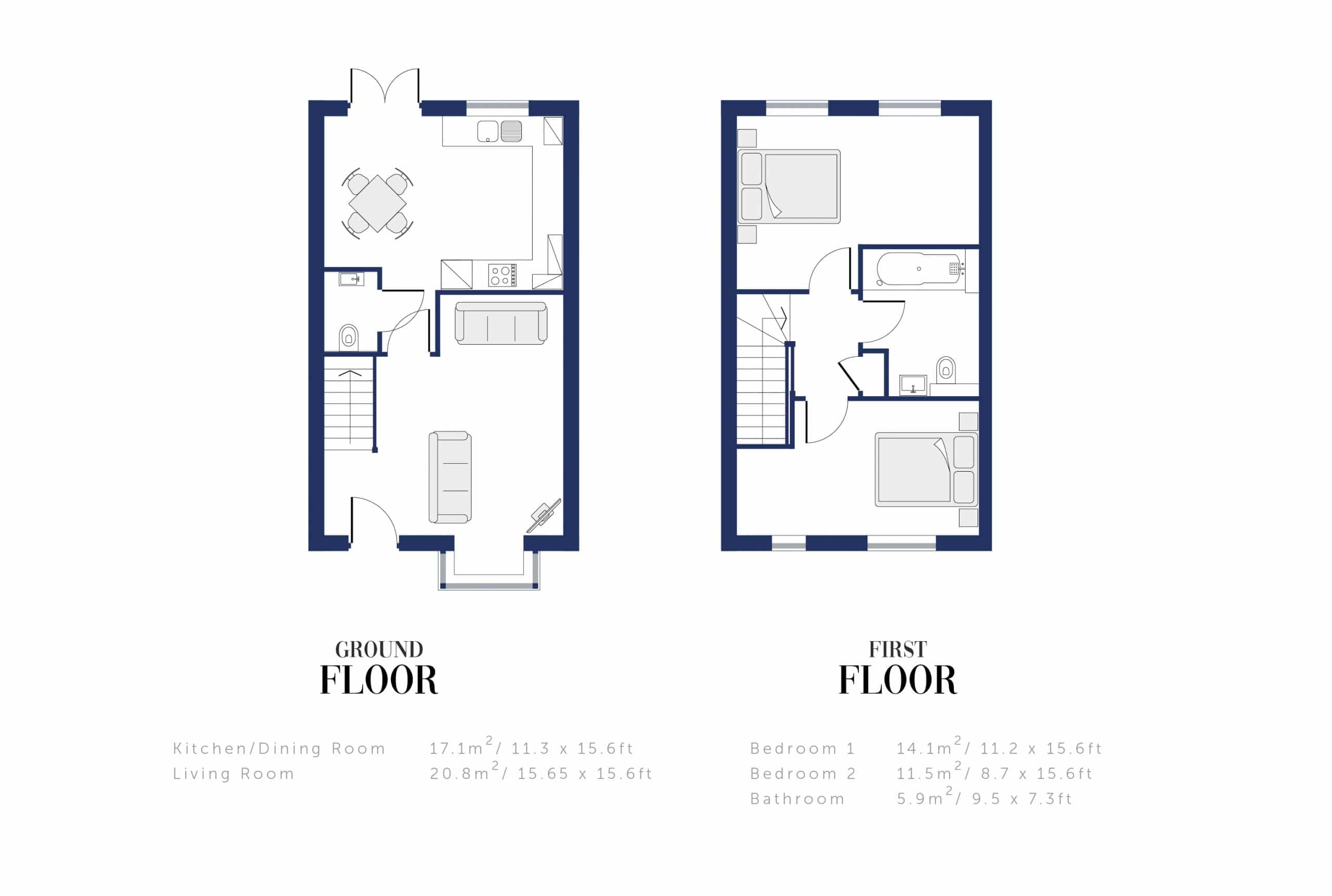 Sunningdale Millers Floor Plan and Sizing for WEB3
