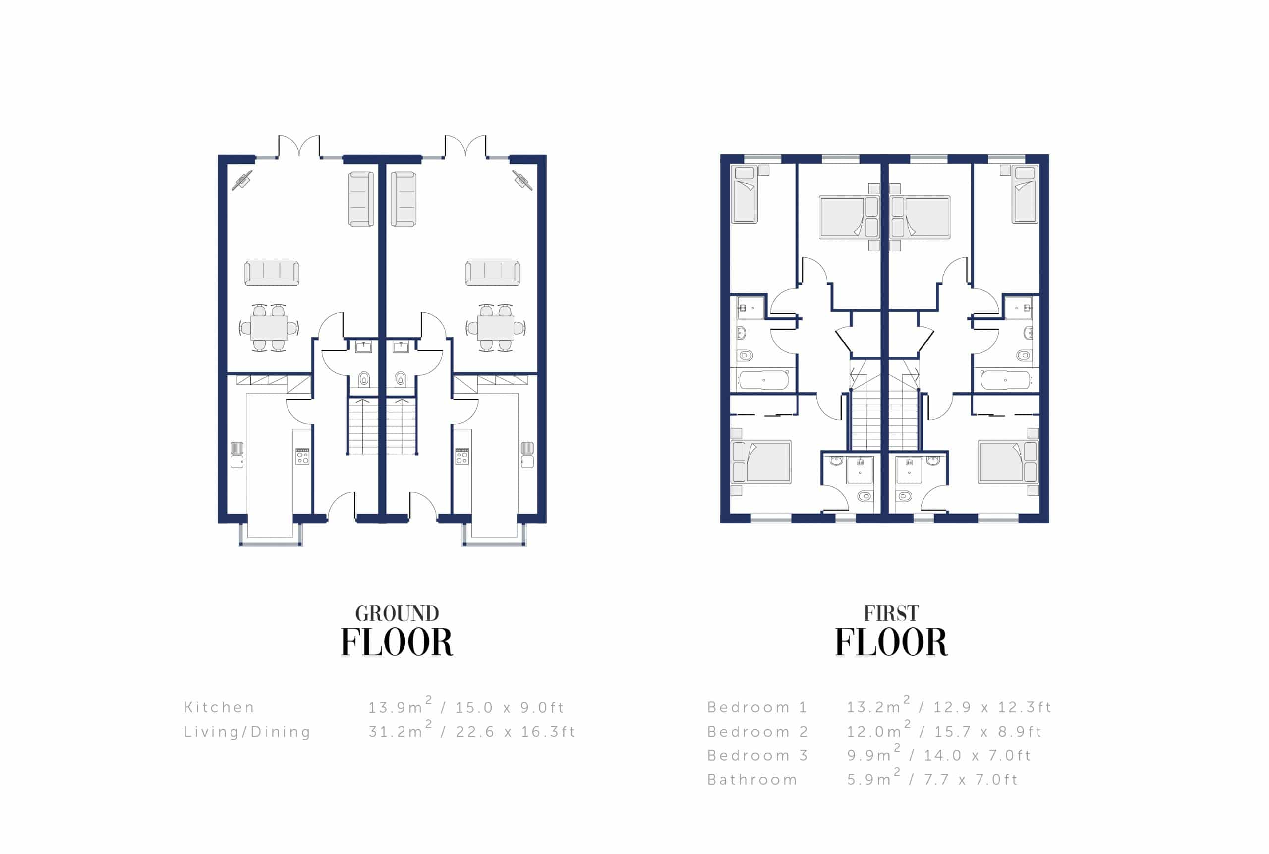 Sunningdale Millers Floor Plan and Sizing for WEB6
