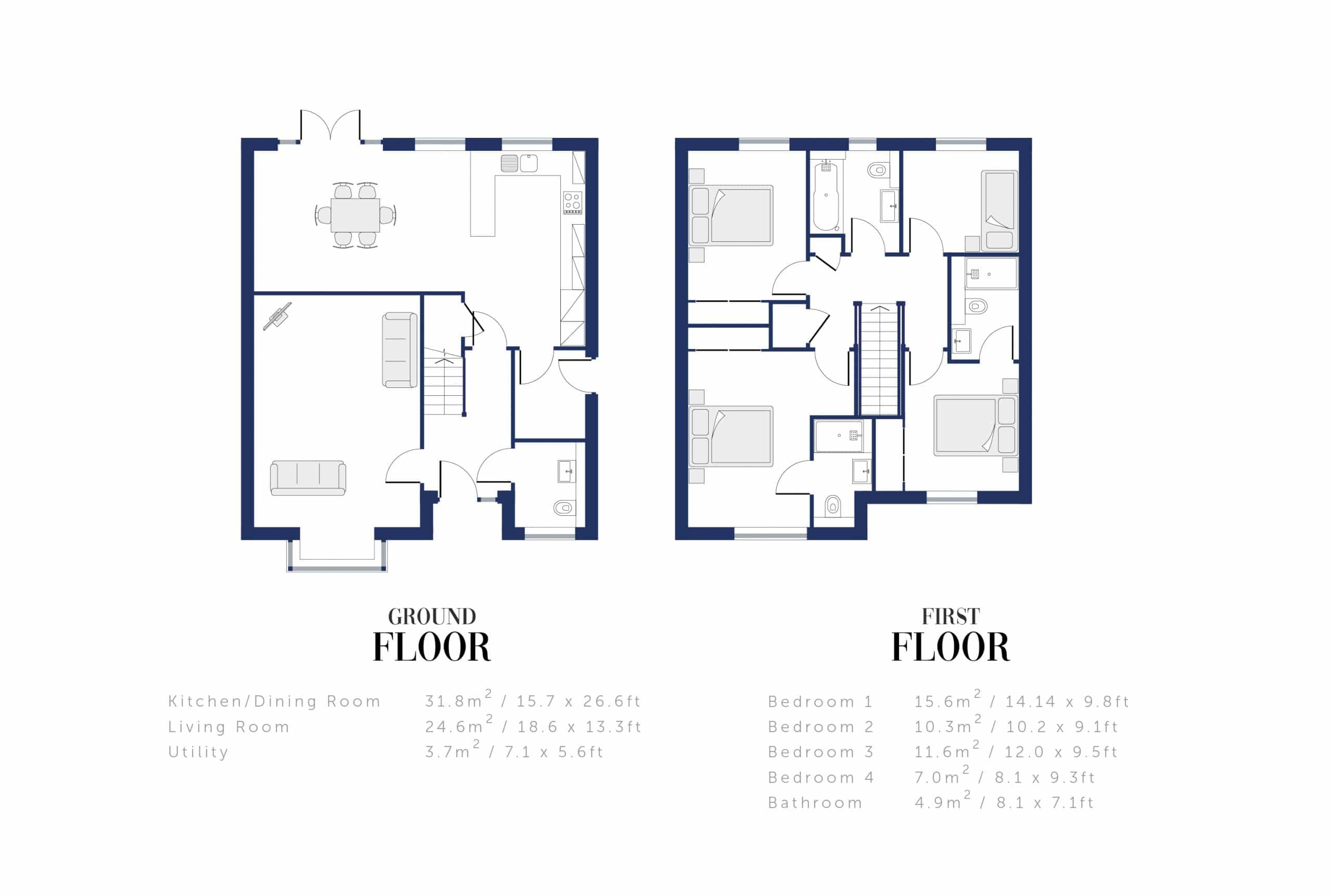 Sunningdale Millers Floor Plan and Sizing for WEB8
