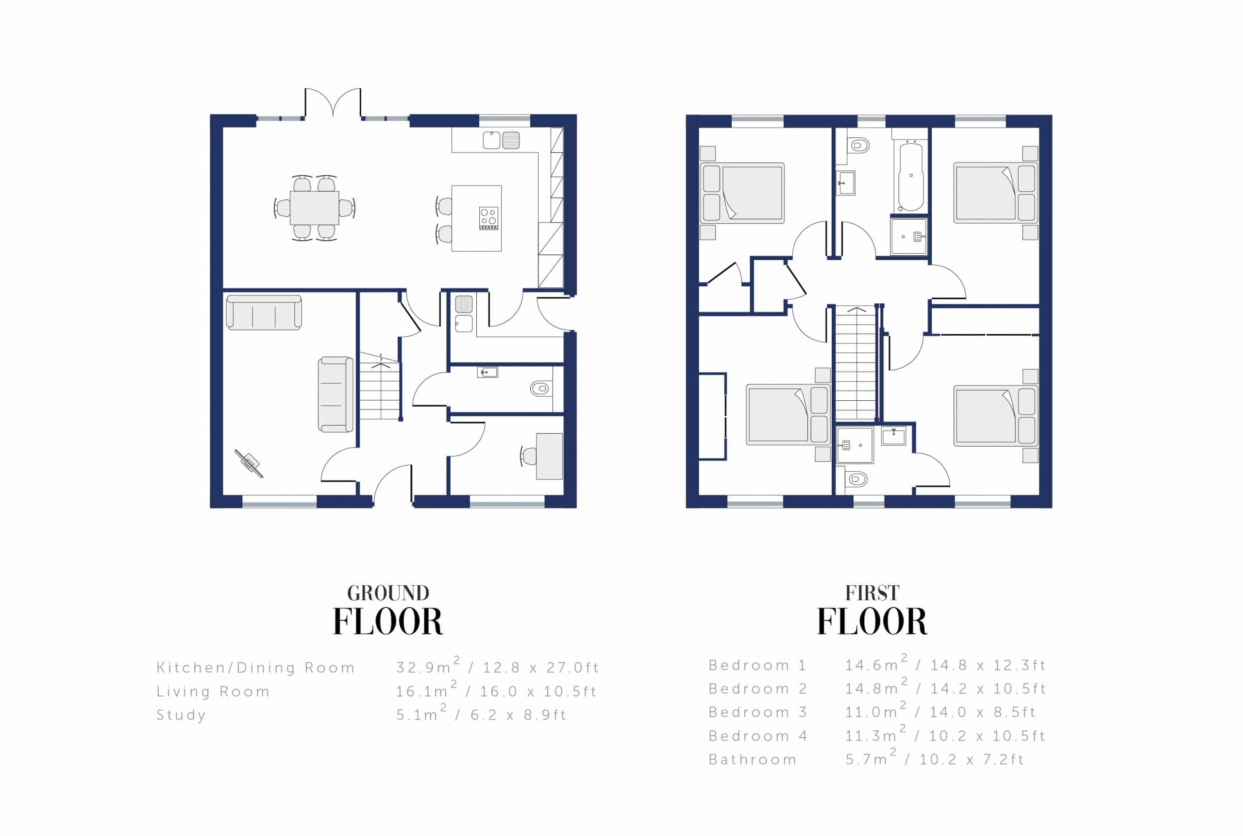 Sunningdale Millers Floor Plan and Sizing for WEB9