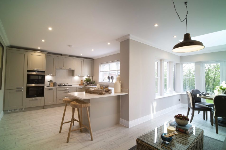 Large, Open Plan Kitchen And Dining Area