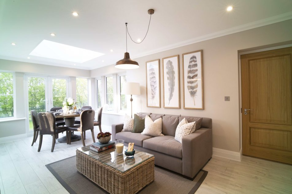 Dining And Lounge Area In A Luxury Sunningdale Property