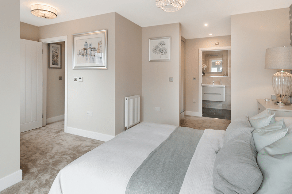 Bedroom With Cream Walls In Sunningdale Property